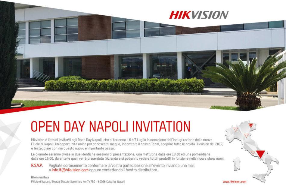 Casoria, 6 e 7 luglio 2017: apre la filiale campana di Hikvision