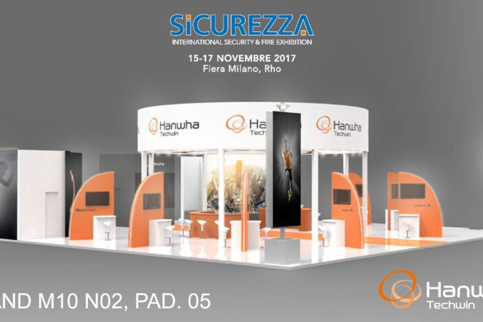 """We move"", Hanwha Techwin a Sicurezza 2017"