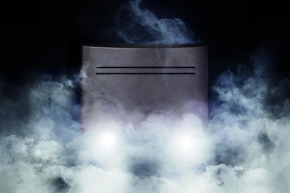 Lampada con sistema fumogeno certificato
