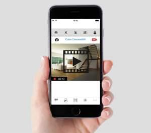 Le app che supportano la Video Verifica offrono spesso illimitate capacità di visualizzazione delle immagini riprese dalle telecamere IP per qualsiasi evento (allarme, guasto, panico, disinserimento), in qualsiasi luogo e momento grazie al Cloud P2P