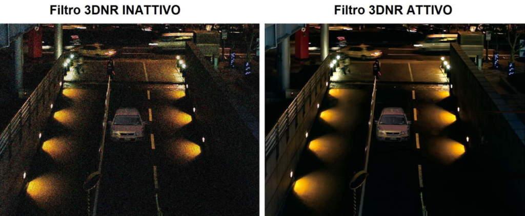 I chipset adottati dalle telecamere Starlight sono in grado di limitare il rumore introdotto dalla conversione analogica-digitale e di abbatterlo con sofisticati filtri digitali (per esempio, 3DNR) senza compromettere i dettagli
